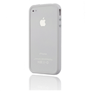 Bumper Frame TPU Case cover for Apple iphone 4S 4G White
