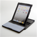 Bluetooth Keyboard Housing Case Rotated 360 Degrees With Silicone Cover For iPad 2 iPad3 Black