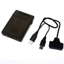 USB 2.0 2.5 Hard Drive HDD Plastic Protective Case Box Kit Black