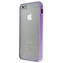 Hot Style Purple Bumper Skin Case With Frosted Clear Back Cover For iPhone 5 iPhone5 New