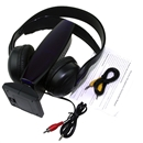 New 8 in 1 Wireless Headphone Earphone Black for MP3 MP4 PC TV CD FM Radio