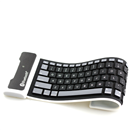 New Black Portable Silicone Wireless Flexible Bluetooth Keyboard for iPad 1 2 3