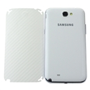 White Carbon Fiber Skin Cover Case Protector for Samsung GALAXY NOTE 2 II N7100