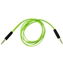 3FT 3.5mm Male M/M Stereo Plug Jack Audio Flat Extension Cable For Phone PC MP3 Green
