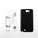 New Black Hard Cover Case + LCD Protector For Samsung Galaxy Note 2 N7100