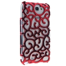 red Electroplating Palace Hollow Case Cover For Samsung Galaxy Note2 N7100