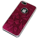 Red Metal Triangle Pattern Bumper Case Cover for Apple iPhone 5 5G 5th Gen