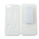 White Rear Hard Case Cover Belt Clip Holster for Apple iPhone 5