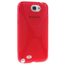 Newest Red X Shape Matte Soft Case Shell For Samsung Galaxy Note 2 ii N7100
