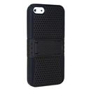 MESH SOFT RUBBER SKIN HARD CASE COVER WITH STAND FOR APPLE iPHONE 5