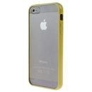 Hot Style Yellow Bumper Skin Case with Clear Back Cover For iPhone 5 5G New Iphone5