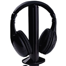 New 5 in 1 Wireless Headphone Earphone Black for MP3 MP4 PC TV CD FM Radio