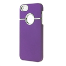 Deluxe Purple with Chrome Hole Snap-on Hard Cover Case for Apple iPhone 5 5G iPhone5 New