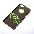 Gray Translucent Green Dual Hearts Ultra Thin Hard Case Cover for Apple iPhone 5 5G 5th Gen