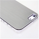 Silver METAL Aluminum Wire Drawing Snap-On Hard Case Cover for Apple iPhone 5 5G 5th Gen