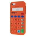 Orange Calculator Style Silicone Soft Case Cover for Apple iPhone 5 5G Gen