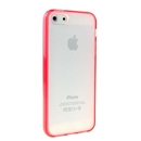 Hot Style Red Bumper Skin Case With Frosted Clear Back Cover For iPhone 5 5G 5th Gen