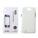 New White Hard Cover Case + LCD Protector For Samsung Galaxy Note 2 N7100