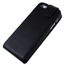 Black Flip PU Leather Pouch Case Cover with Magnetic For Apple iPhone 5 iPhone5 New