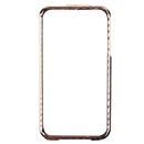 Lexury Crystal Bling Aluminum Metal Bumper Hard Case For Apple iPhone 4S Gold