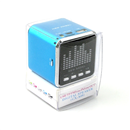 Mini Speaker Portable Micro SD TF MP3 Music Player FM Radio USB Disk Screen Baby Blue