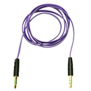 3FT 3.5mm Male M/M Stereo Plug Jack Audio Flat Extension Cable For Phone PC MP3 Purple