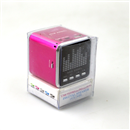 Mini Speaker Portable Micro SD TF MP3 Music Player FM Radio USB Disk Screen Hot Pink