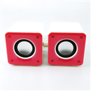 3D Sound 2 Channel USB Speaker System for Laptop Notebook Tablet PC MP3 MP4 Pink
