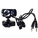 USB 30.0M 3 LED Webcam Camera Web Cam With Mic for Desktop PC Laptop
