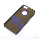 Gray Translucent Blue Dual Hearts Ultra Thin Hard Case Cover for Apple iPhone 5 5G 5th Gen