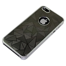 Gray Ultra-thin Aluminum Metal Triangle Pattern Bumper Hard Case Cover for Apple iPhone 5 5G 5th Gen