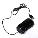 Ergonomic USB 2.0 PC Laptop Optical Mouse LED Car Mice Black
