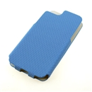 Blue Anti-skid Stripe Leather Flip Snap-On Case Cover for Apple iPhone 5 5G 5th Gen