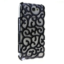 Black Electroplating Palace Hollow Case Cover For Samsung Galaxy Note2 N7100