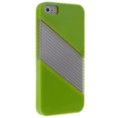 Bright Green Soft Silicone with Hard Clear Diagonal  Case Cover for iPhone 5 5G New