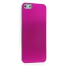 Rosy METAL Aluminum Wire Drawing Snap-On Hard Case Cover for Apple iPhone 5 5G 5th Gen