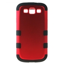 Red Hard Silicone Case Cover for Samsung Galaxy S3 i9300
