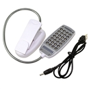 New Flexible 28 LED Clip On Desk Light Lamp Bulb with Switch For Laptop PC Notebook White