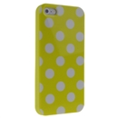 Yellow with White Wave Point Dot Soft Back Case Cover Skin for iPhone 5 5G 5th Gen New