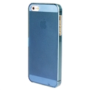 Blue Ultra-thin Transparent PC Hard Back Case Cover Skin For iPhone 5 5G