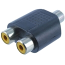 2 RCA Female to1 RCA Female AV  Audio Video Splitter Adapter