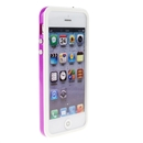 White Purple Bumper Frame TPU Silicone Soft Case Cover for the New iPhone 5G 5 iPhone5