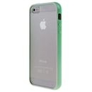 Hot Style Light Bule Bumper Skin Case With Frosted Clear Back Cover For iPhone 5 New iphone5