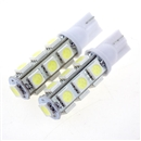 2PCS T10 5050 SMD Hyper Red Car Smd Wedge 13 Led Light Bulbs 12V