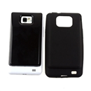 TPU Case for Samsung Galaxy S 2 i9100 3500mAh Extended Battery Black