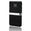 Back Case Stand Cover With Chrome for Samsung Galaxy S II S2 i9100 Black