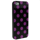 Black with Pink Wave Point Dot Soft Back Case Cover Skin for iPhone 5 5G 5th Gen New