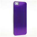 Purple METAL Aluminum Wire Drawing Snap-On Hard Case Cover for Apple iPhone 5 5G 5th Gen