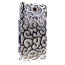 Silver Electroplating Palace Hollow Case Cover For Samsung Galaxy Note2 N7100