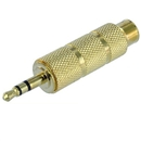 3.5mm Male to 6.3mm Female Stereo Adapter Coupler Gold Plated